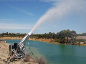Wet Earth Evaporation Cannon Waste Water Evaporation