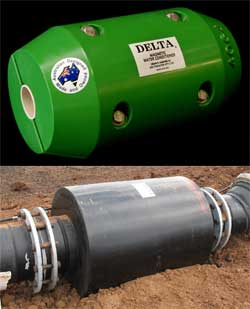 delta water conditioner clamp-on and flanged image